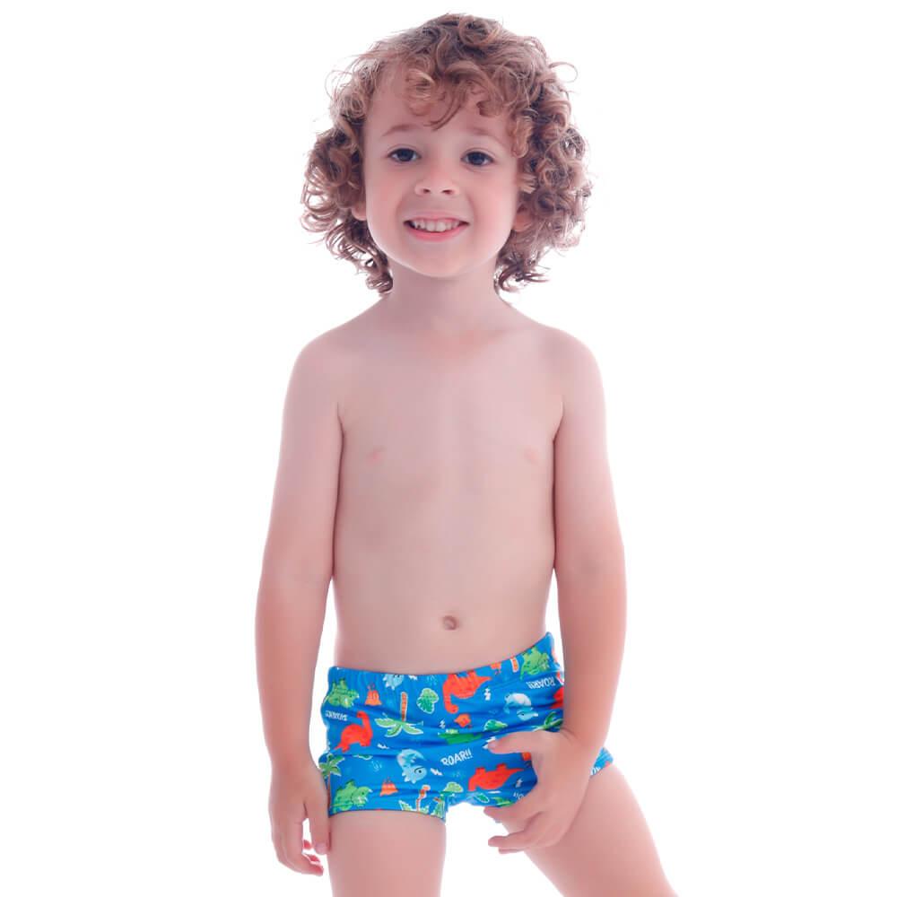 Sunga Infantil Boxer Baby Dino - Cecí