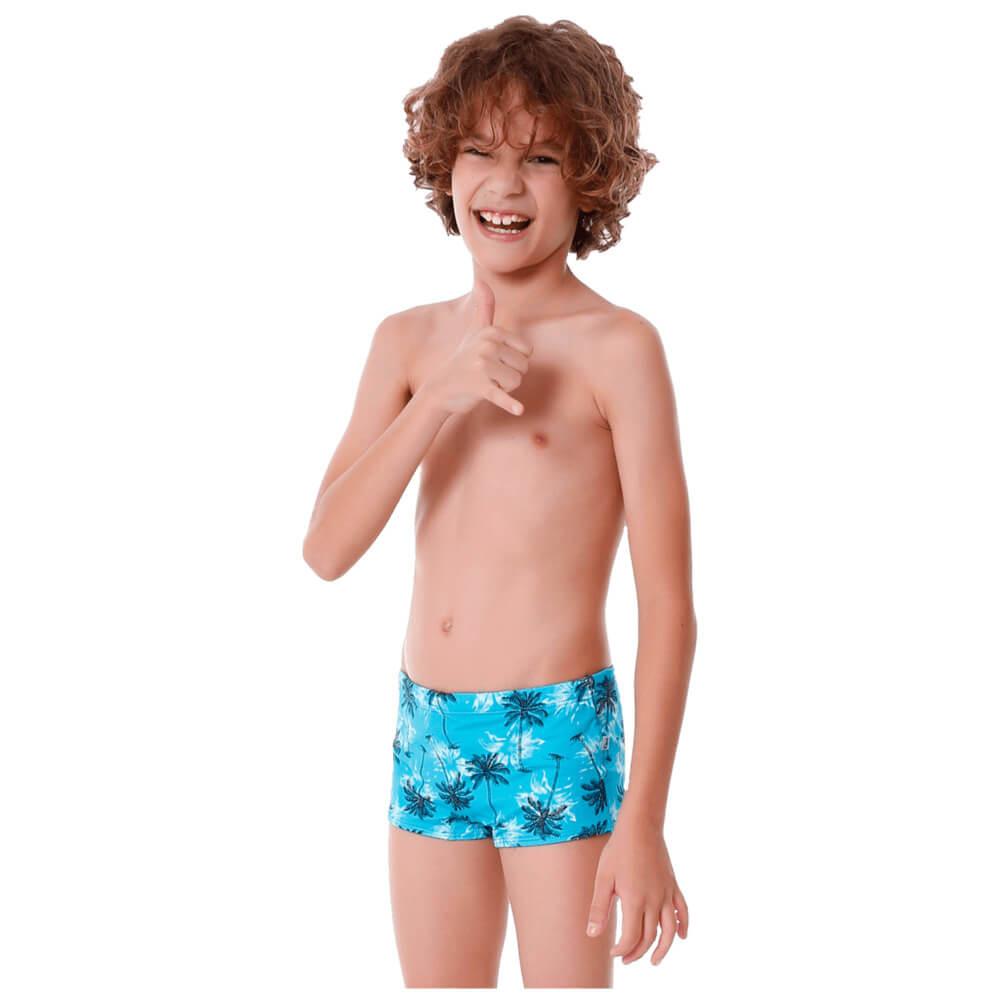 Sunga Infantil Boxer Coqueiro com Protecao UV