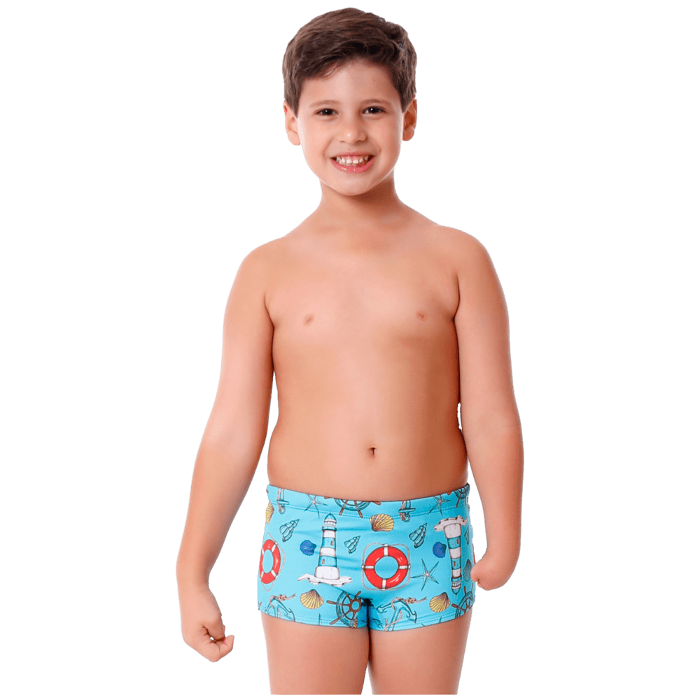 Sunga Infantil Boxer Farol com Protecao UV