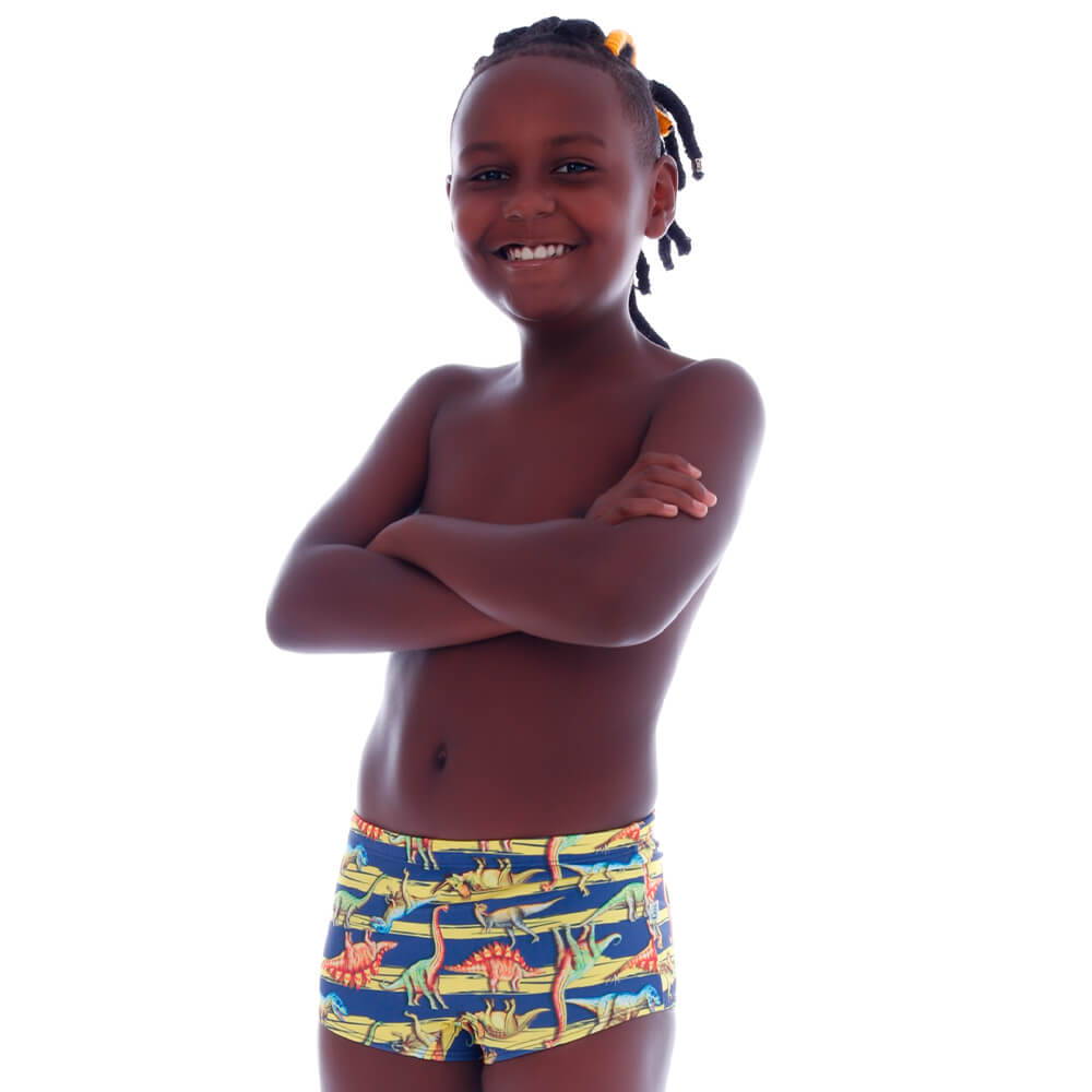 Sunga Infantil Boxer Listra Dinossauro - Cecí