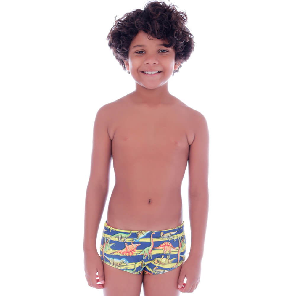 Sunga Infantil Slim Listra Dinossauro - Cecí