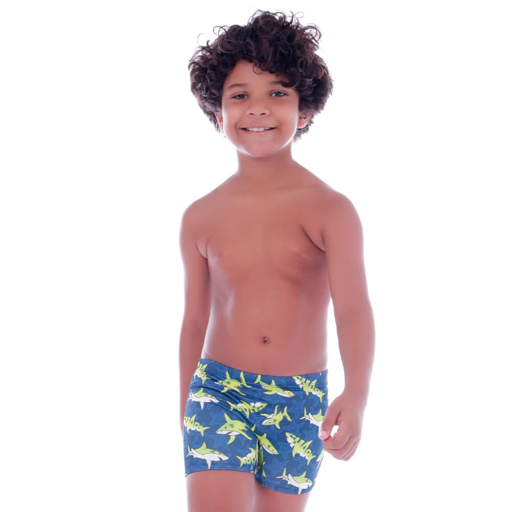 Sunga Short Infantil Shark - Cecí