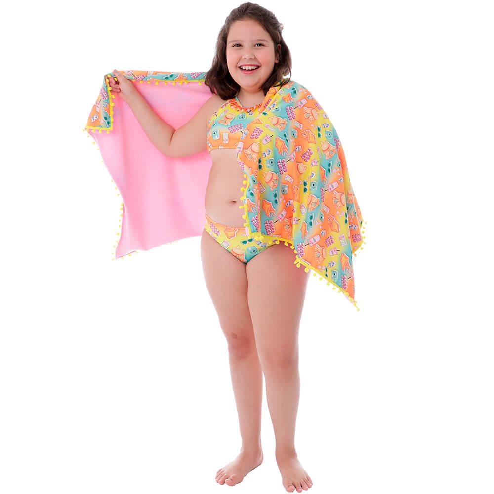 Toalha de Praia Infantil Summer Good Vibes - Cecí