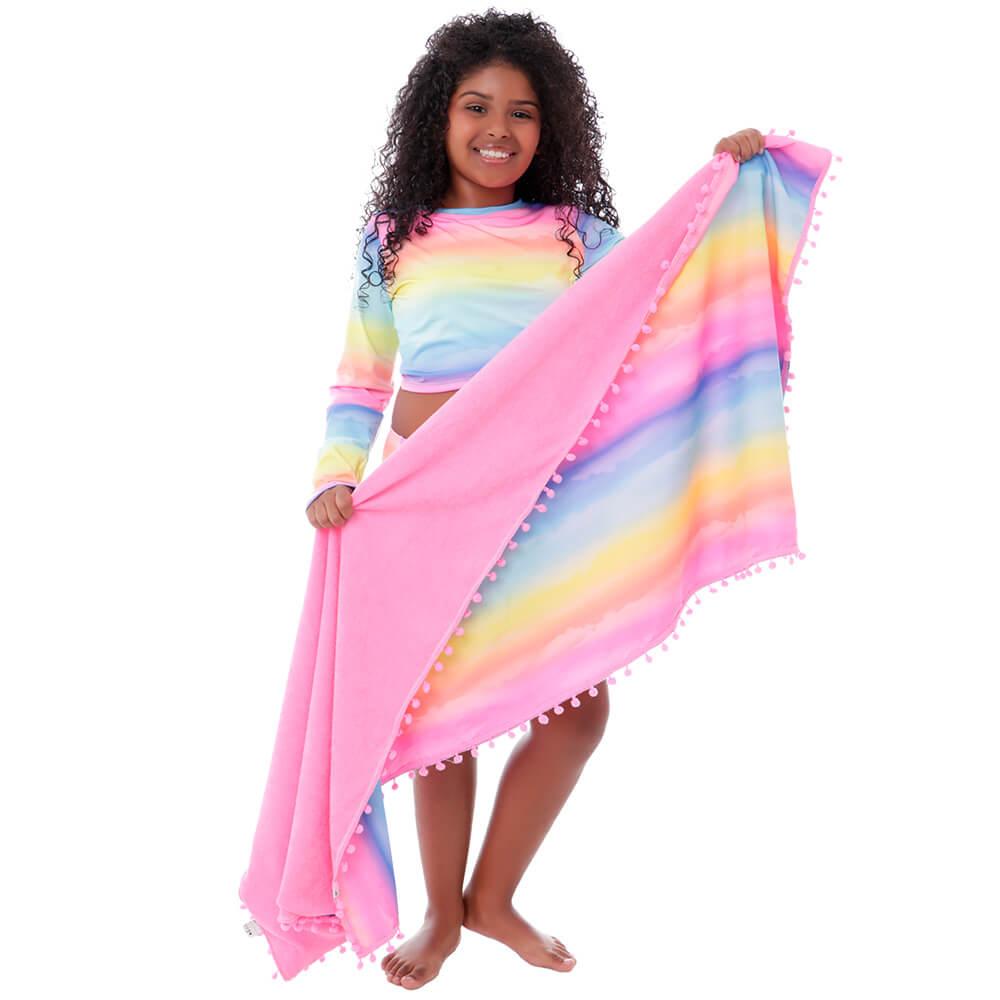 Toalha de Praia Infantil Tie Dye Por do Sol - Cecí
