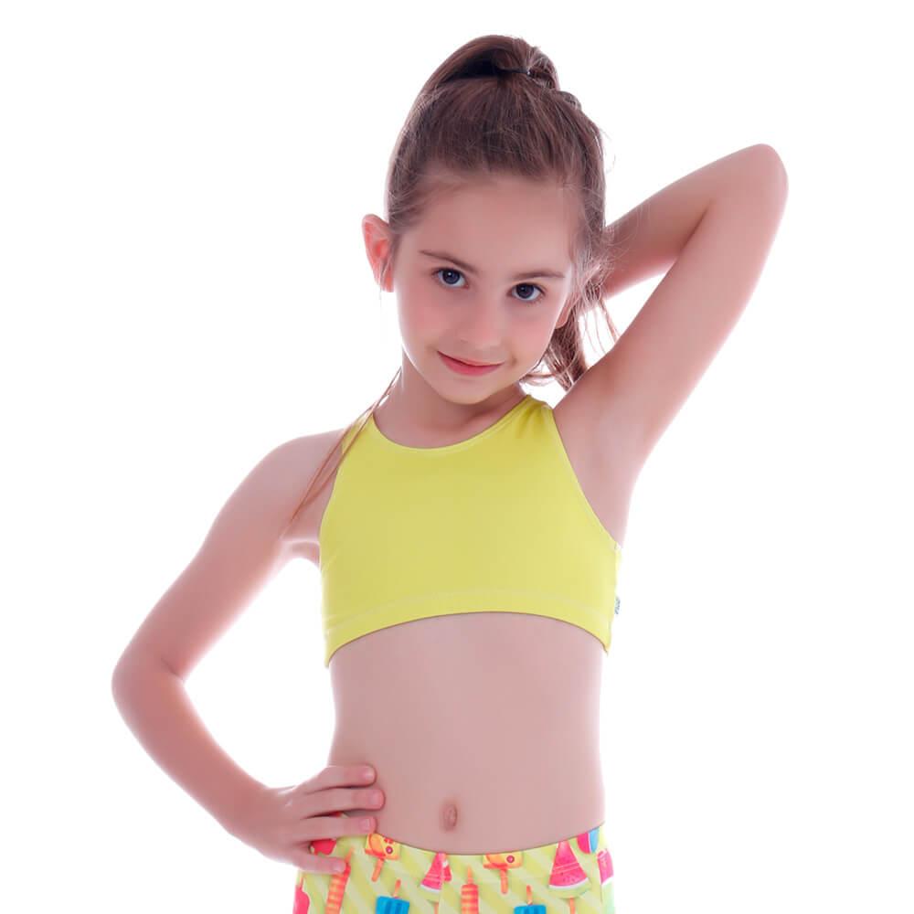 Top Legging Infantil Amarelo - Cecí