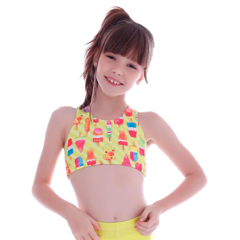 Top Infantil Legging Neon Ice Cream - Cecí