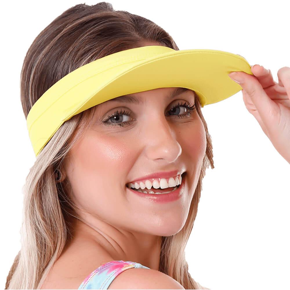 Viseira Com Proteção Uv50+ Amarela
