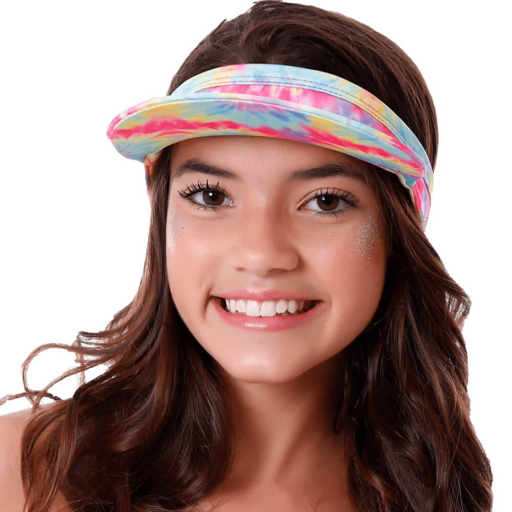 Viseira Tie Dye Infantil Com Proteção Uv50+