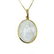 Gargantilha em Ouro 18K Medalha Nossa Senhora Aparecida GA015