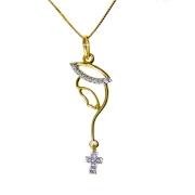 Gargantilha em Ouro 18K Medalha Nossa Senhora do Silêncio GA013