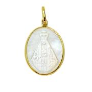 Pingente em Ouro 18K Medalha Nossa Senhora Aparecida PI015