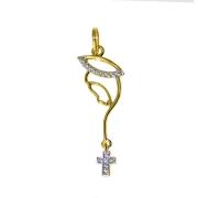 Pingente em Ouro 18K Medalha Nossa Senhora do Silêncio PI013