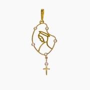 Pingente em Ouro 18K Medalha Nossa Senhora do Silêncio PI017