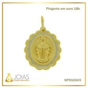Pingente em Ouro 18K Nossa Senhora das Graças NP910043