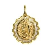 Pingente Oval em Ouro 18K de Nossa Senhora das Graças NP910043