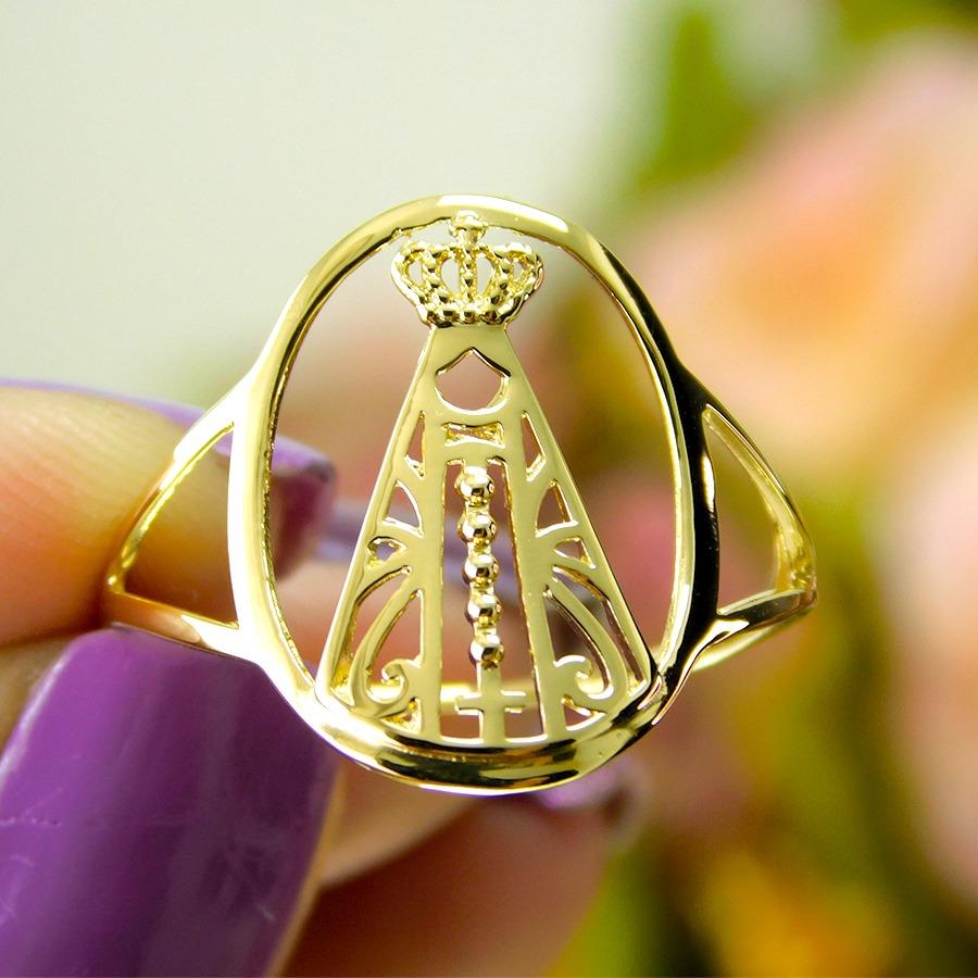 Anel em Ouro 18K Nossa Senhora Aparecida NA916769