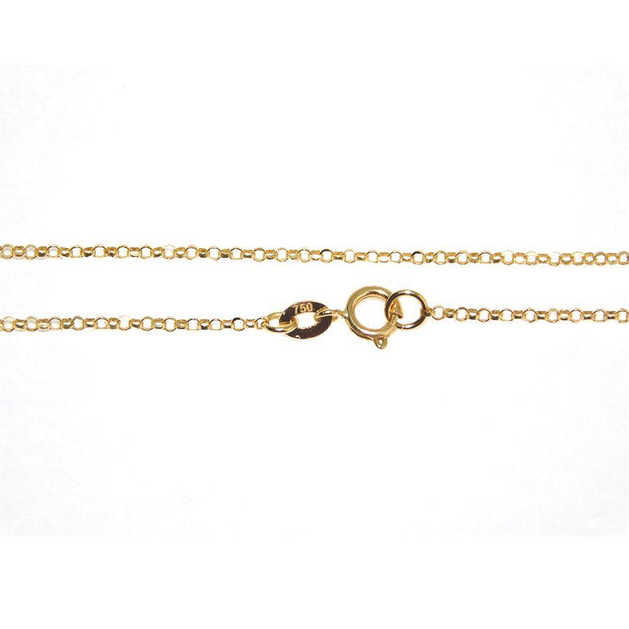 Corrente em Ouro 18K Portuguesa diamantada 45CM NC90010