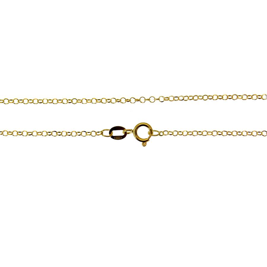 Corrente em Ouro 18K Portuguesa elos Diamantados PRM45140