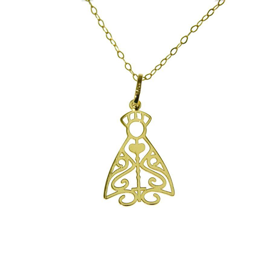 Gargantilha em Ouro 18K de  Nossa Senhora Aparecida NGZ916770