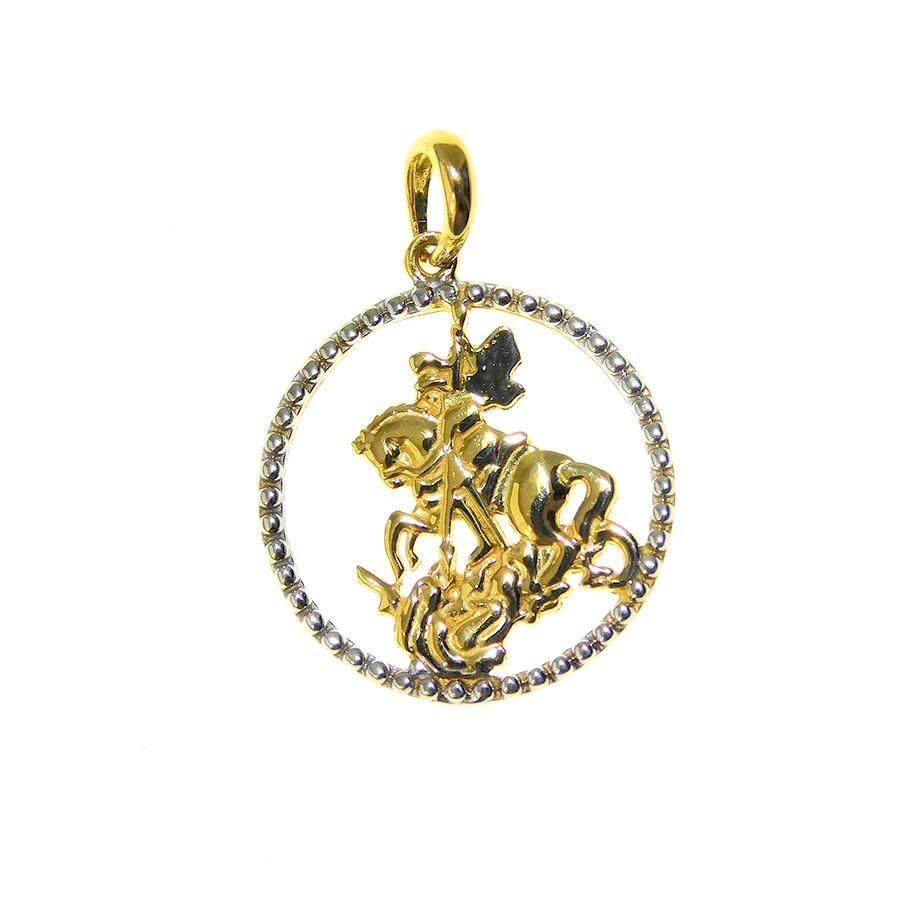 Gargantilha em Ouro 18K Medalha de São Jorge GAV97286