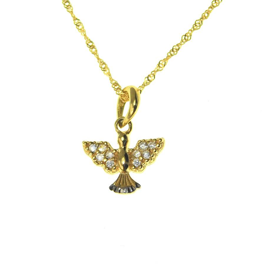 Gargantilha em Ouro 18K Medalha Divino Espírito Santo GAS97898