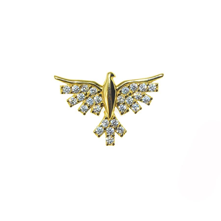 Gargantilha em Ouro 18K Medalha Divino Espírito Santo GAV97778