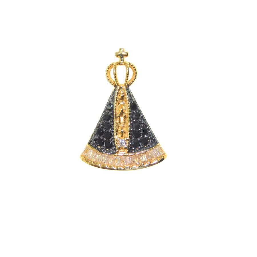 Gargantilha em Ouro 18K Medalha Nossa Senhora Aparecida GA99068