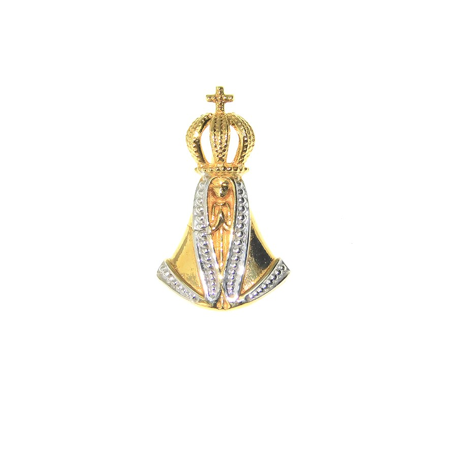 Gargantilha em Ouro 18K Medalha Nossa Senhora Aparecida GAV97045