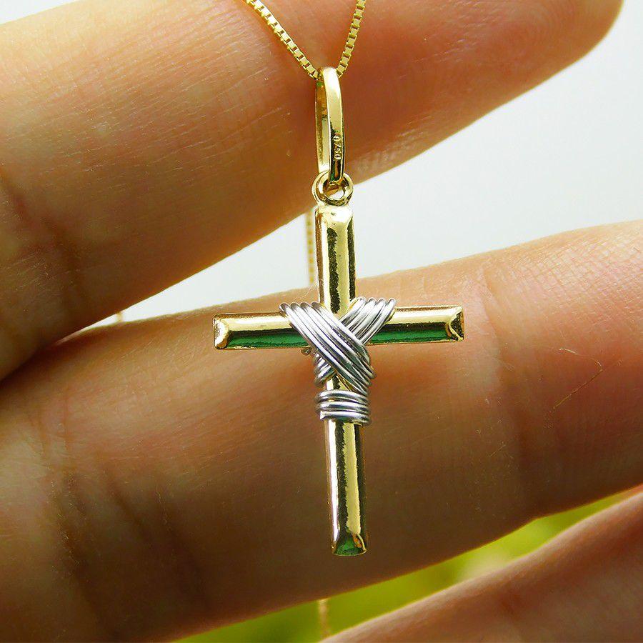 Pingente em Ouro 18K Crucifixo DS459