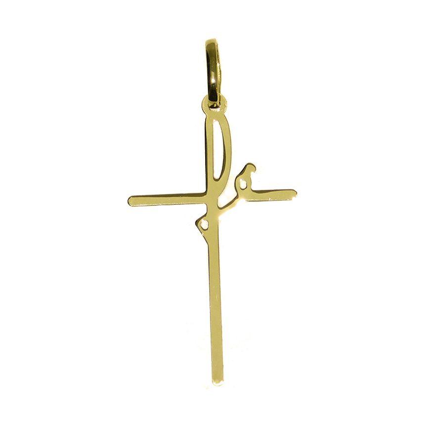 Pingente em Ouro 18K Crucifixo Fé NP916501