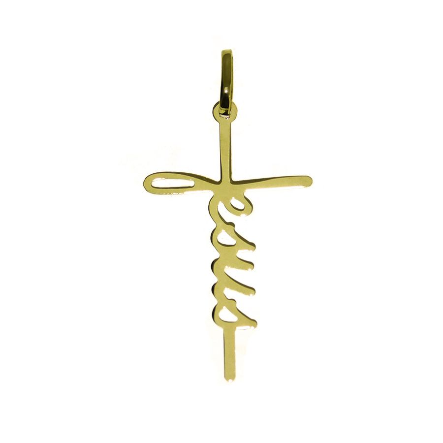 Pingente em Ouro 18K Crucifixo Jesus NP916503