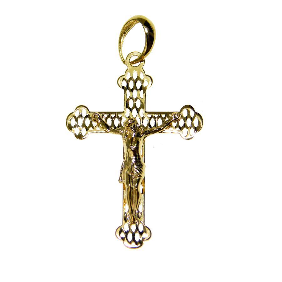 Pingente em Ouro 18K Crucifixo PN013