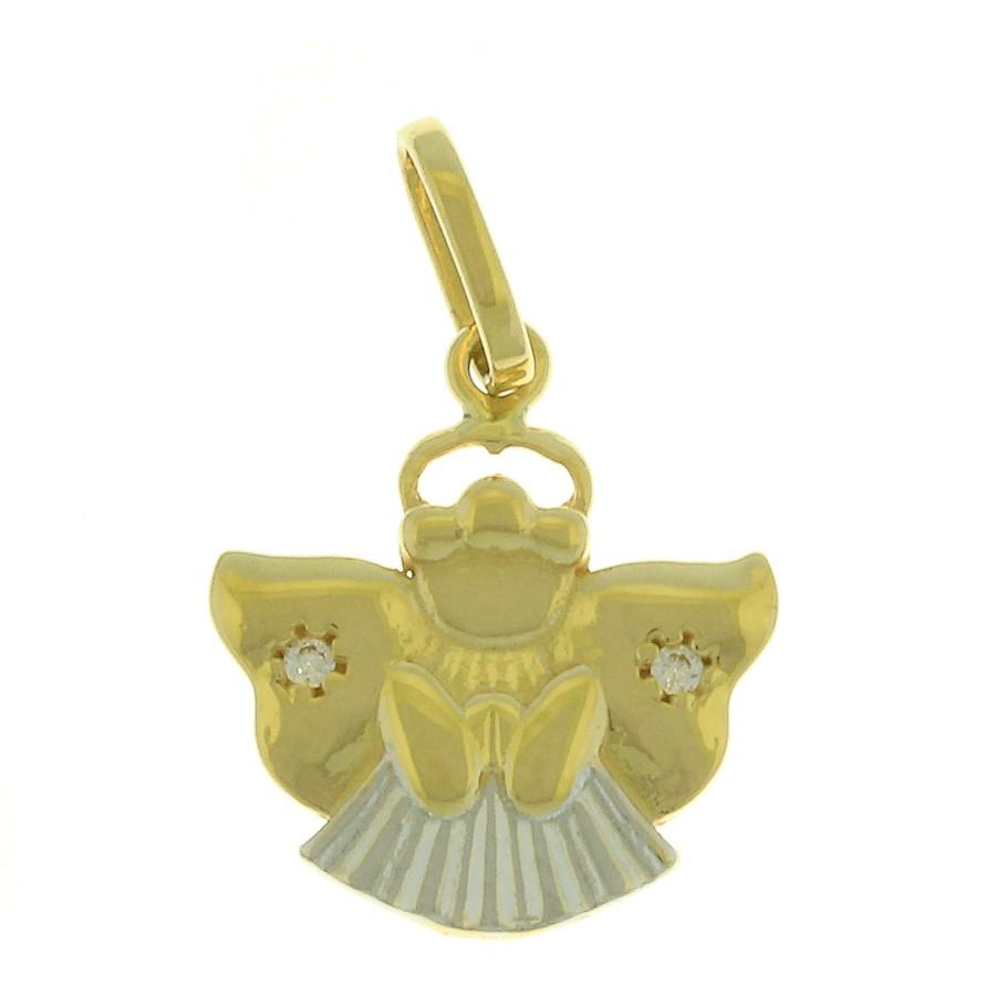 Pingente em Ouro 18K do Anjo da Guarda com Zircônia NP911450