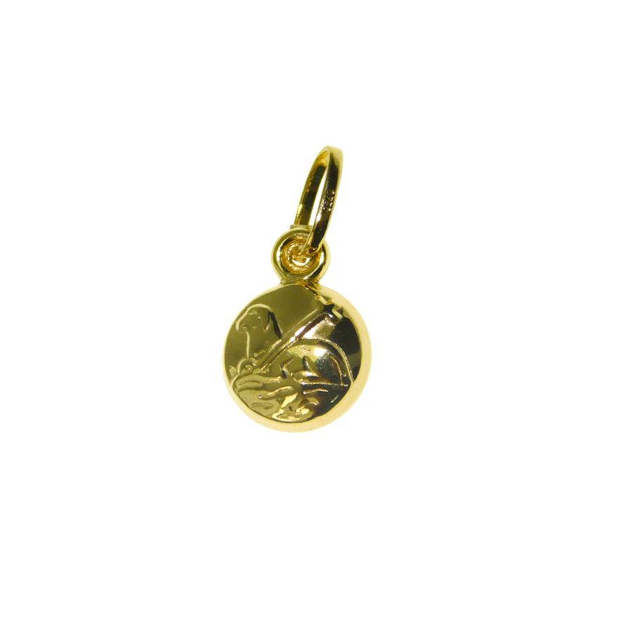 Pingente em Ouro 18K Medalha Agnus Dei DS232