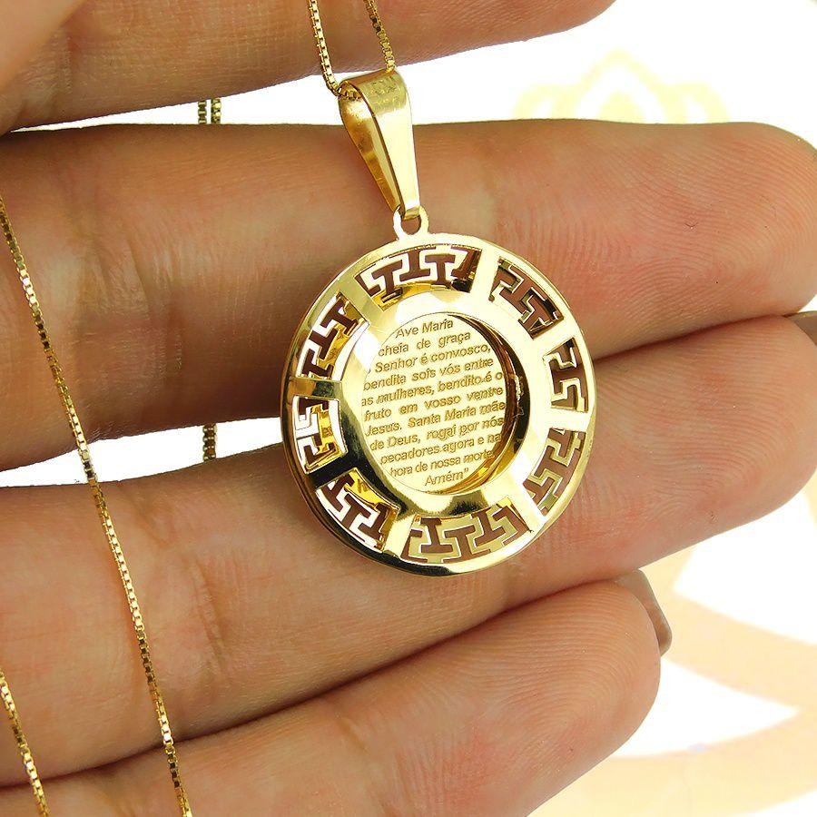 Pingente em Ouro 18K Medalha de Nossa Senhora Aparecida NP916632