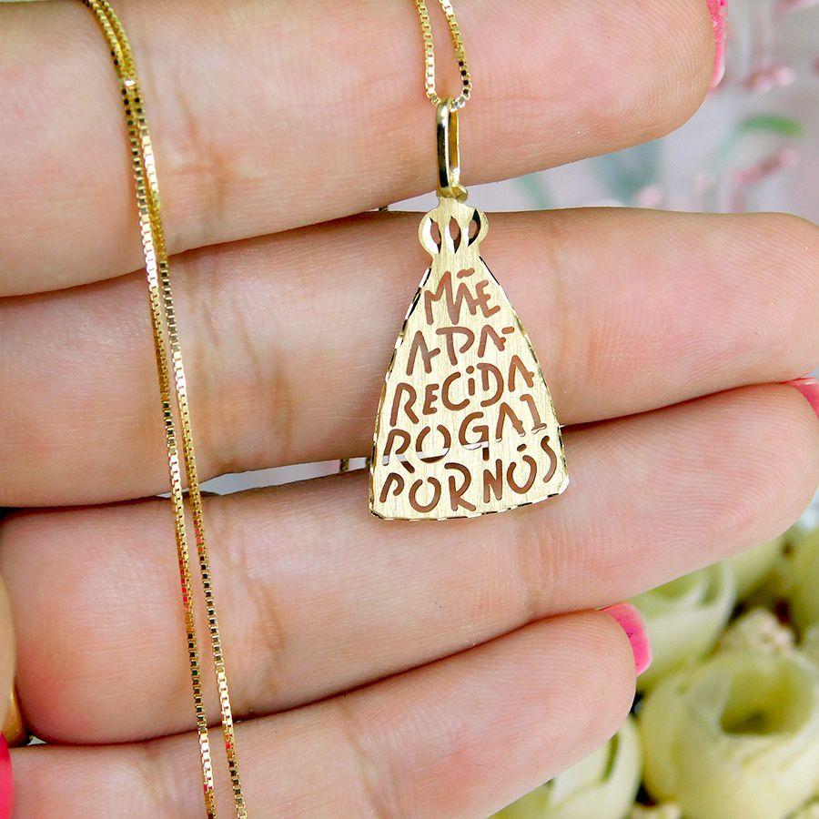 Pingente em Ouro 18K Medalha de Nossa Senhora Aparecida NP916679
