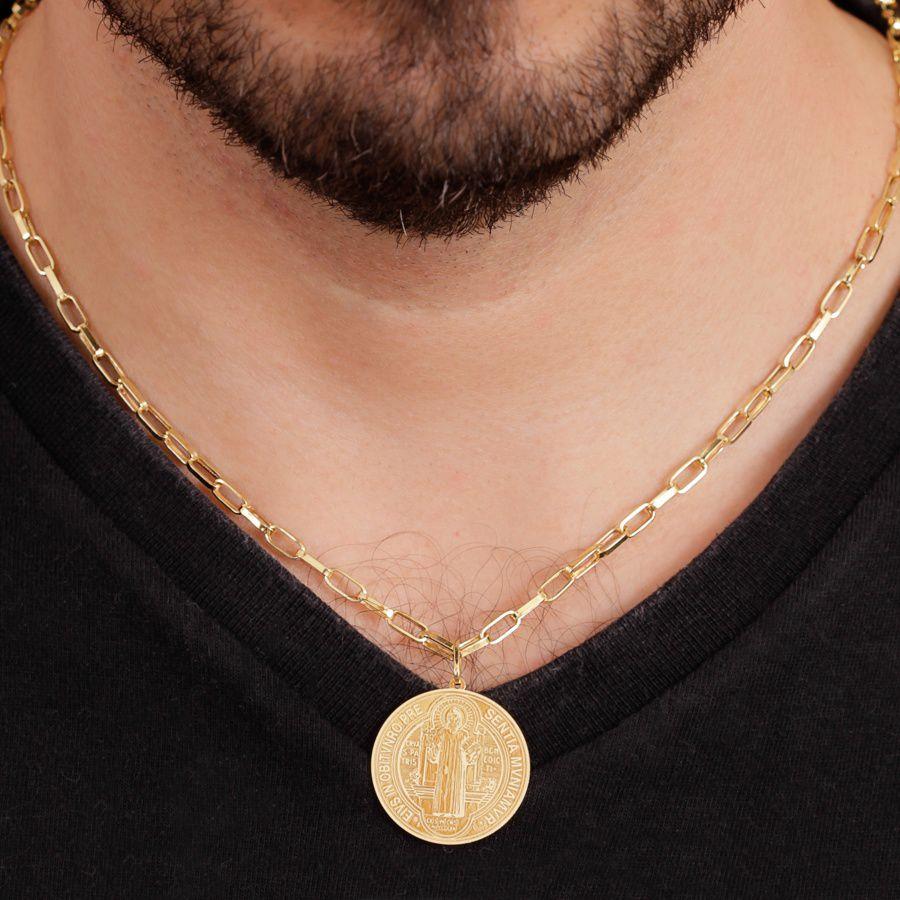 Pingente em Ouro 18K Medalha de São Bento NP912443