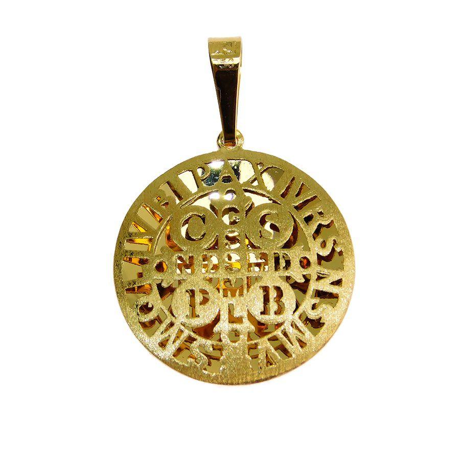 Pingente em Ouro 18K Medalha de São Bento NP916633