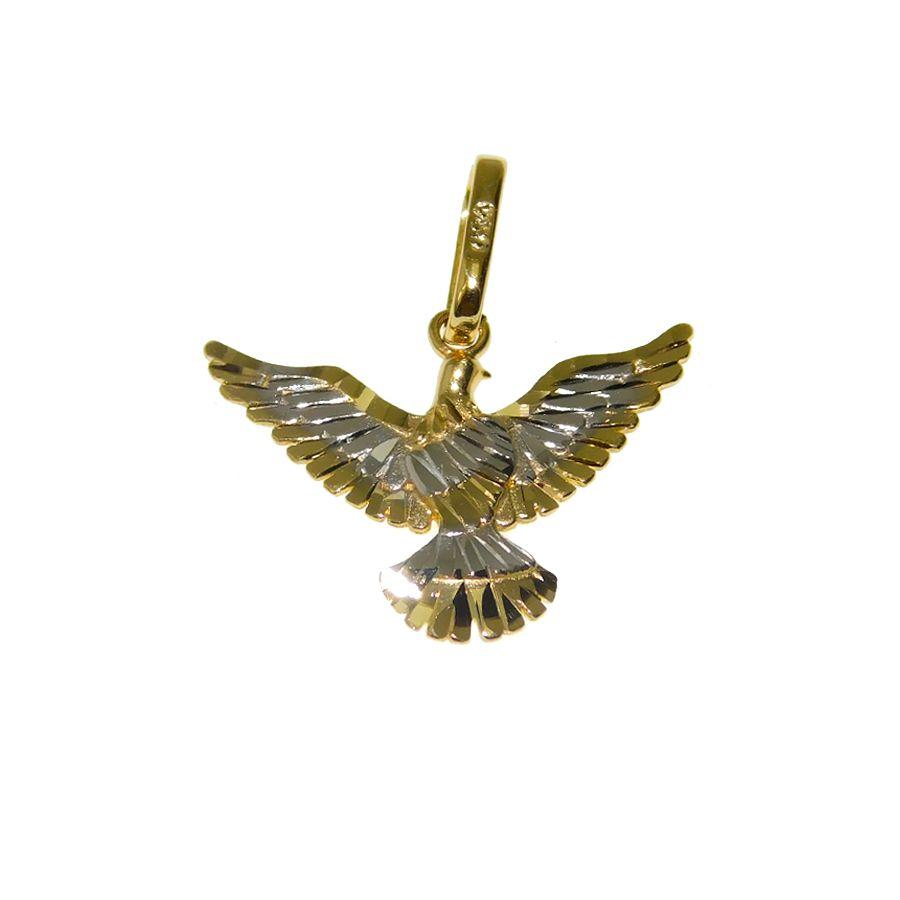 Pingente em Ouro 18K Medalha Divino Espírito Santo PG424