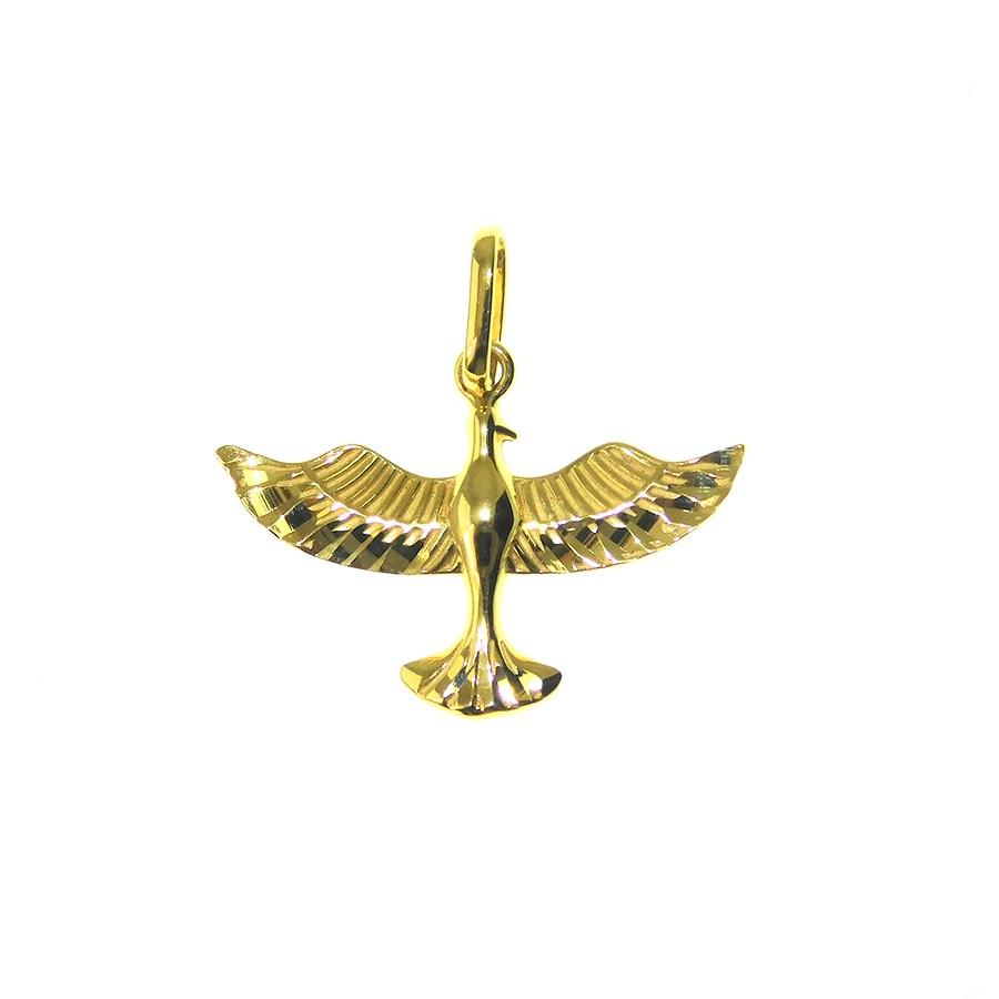 Pingente em Ouro 18K Medalha Divino Espírito Santo PI92544