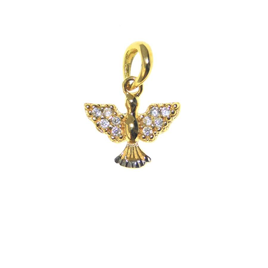 Pingente em Ouro 18K Medalha Divino Espírito Santo PI97898