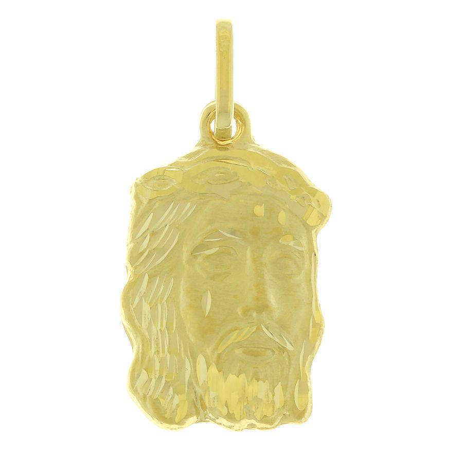 Pingente em Ouro 18K Medalha Face de Cristo NP90328