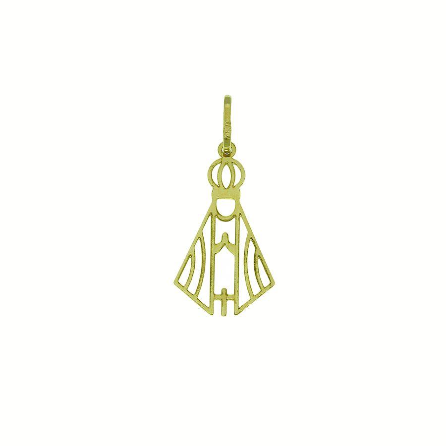Pingente em Ouro 18K Medalha Nossa Senhora Aparecida NP912822