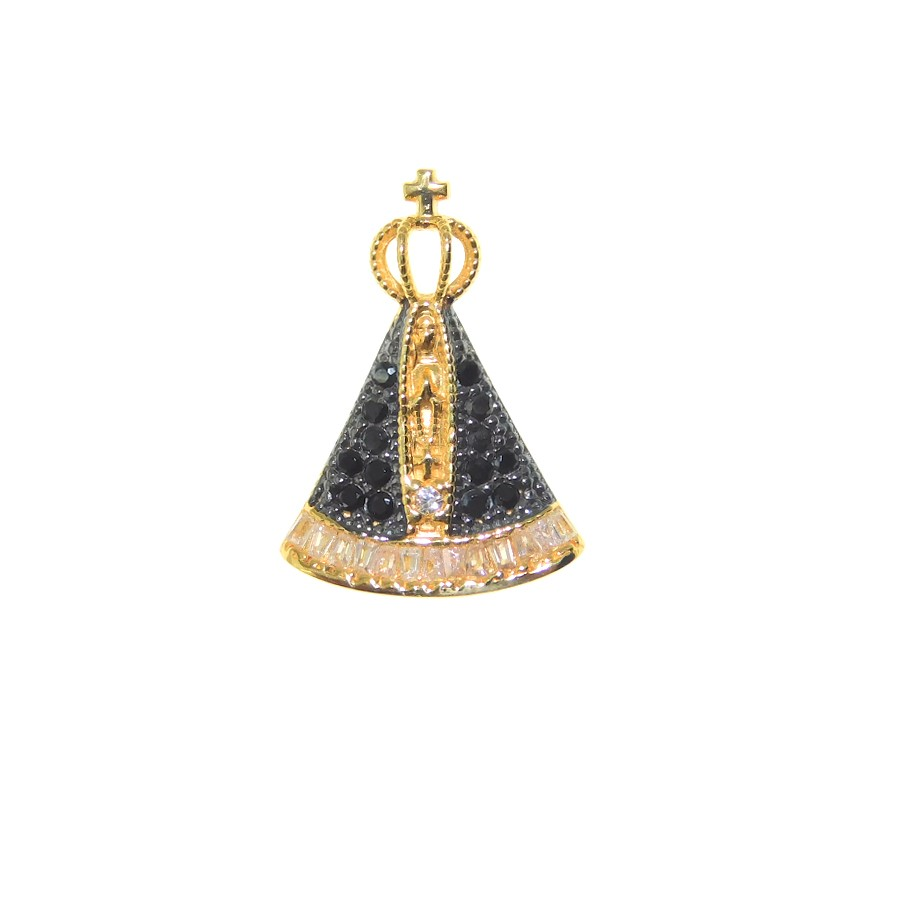 Pingente em Ouro 18K Medalha Nossa Senhora Aparecida PI99068