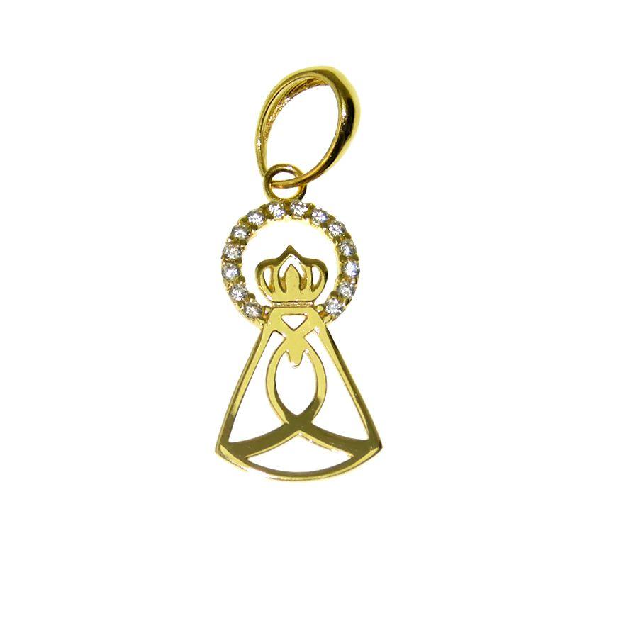 Pingente em Ouro 18K Medalha Nossa Senhora Aparecida PN115Z