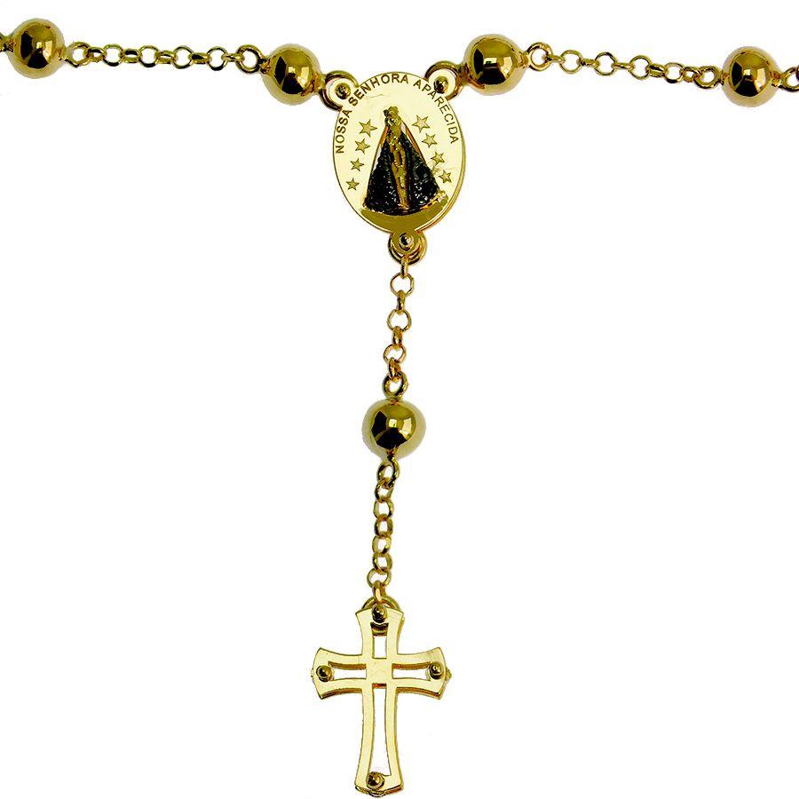 Pulseira Terço em Ouro 18K Nossa Senhora Aparecida NPL916627