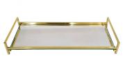 Bandeja Latão Dourado - Espelho 21 x 15