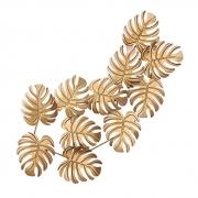 Escultura de Parede Folhas Douradas
