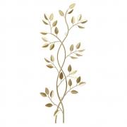 Escultura de Parede Metal Dourada Folhas