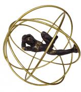 Escultura Homem Esfera